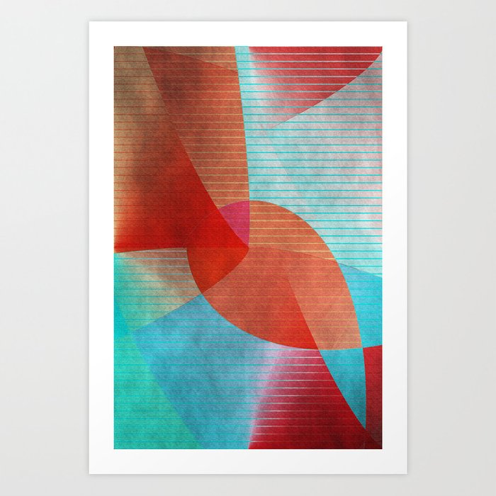 Multicolored abstract 2016 / 015 Art Print