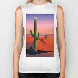 Saguaro Blossoms Biker Tank