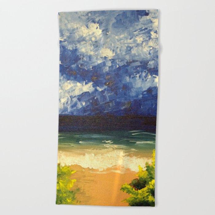 Blue Ocean Beach Towel