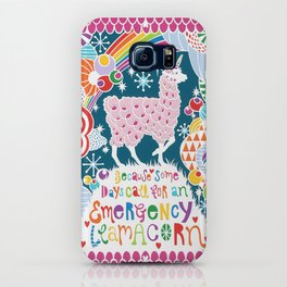 Emergency Llamacorn Hand-cut Papercut iPhone Case