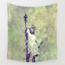 Textured Statue of Liberty Wall Tapestry