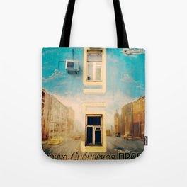 Russian mural Tote Bag