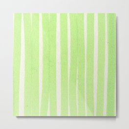 LIME STRIPES Metal Print