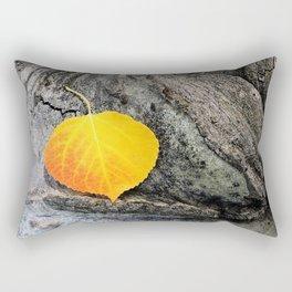 Golden Aspen Leaf Autumn Woodland Scene Rectangular Pillow