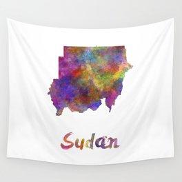 Sudan in watercolor Wall Tapestry