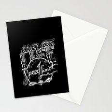 Speed Limit Stationery Cards