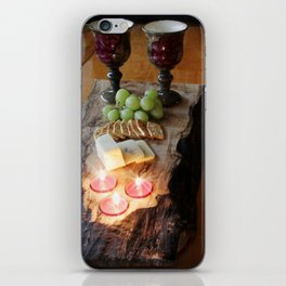 Rustic Wine and Cheese iPhone Skin