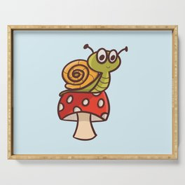 Cute snail Serving Tray