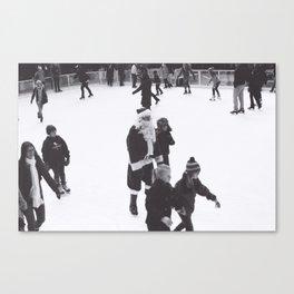 Skating Santa Canvas Print