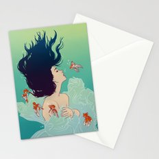 Underwater Lady Stationery Cards