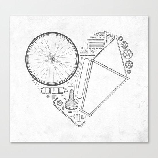 Love Bike (Grey) Canvas Print