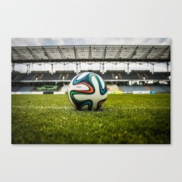 Soccer Ball Field Canvas Print