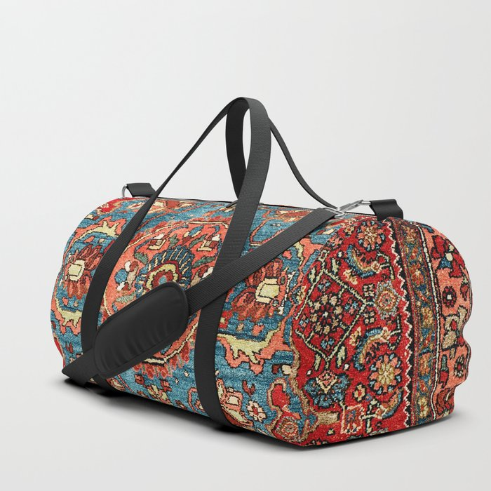 Bidjar Antique Kurdish Northwest Persian Rug Print Duffle Bag