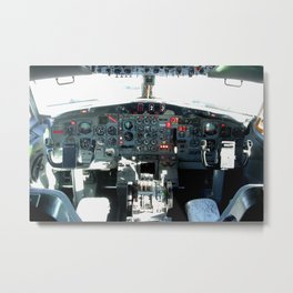 Boeing 727-200 flight deck Metal Print