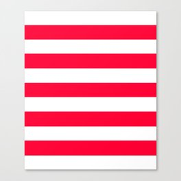 Yahoo Japan Red - solid color - white stripes pattern Canvas Print