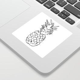 single line pineapple Sticker