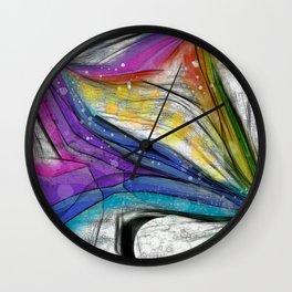 POPCORN ON MARS Abstract Wall Clock