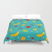fruits Duvet Covers featuring fruits by Irina Novikova