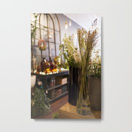 The Florist Shop Metal Print