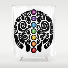 Chakra Tree #42 Shower Curtain