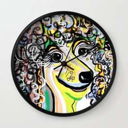 POODLE Soft Color Palette Wall Clock
