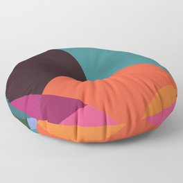 Pink Sunsets Geometric Abstract - Bybrije Floor Pillow