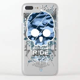 Extreme ride Clear iPhone Case