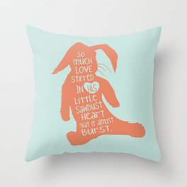So Much Love Stirred in a little Sawdust Heart Throw Pillow
