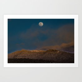Colorado Moonrise Art Print