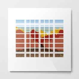 WINDOW 002: THE WOODS Metal Print