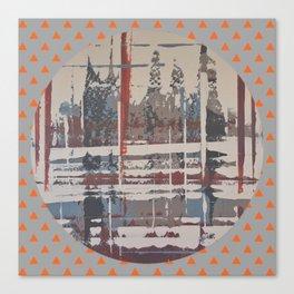 Waterlogged - orange triangle Canvas Print