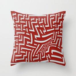 Devastated maze Throw Pillow