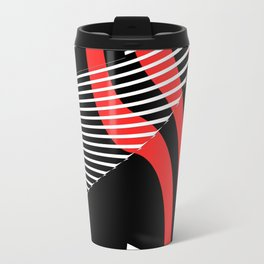 Black and white meets red Version 30 Travel Mug