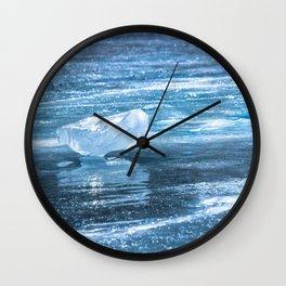 Ice diamond of Baikal Wall Clock
