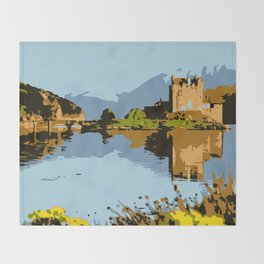 Eilean Donan Castle  Throw Blanket