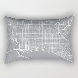 Long Beach Map, California USA - Pewter Rectangular Pillow