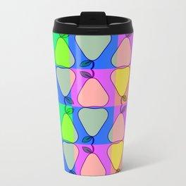 Colorful pears Metal Travel Mug