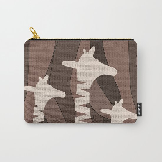 Abstract Giraffe Family Carry-All Pouch
