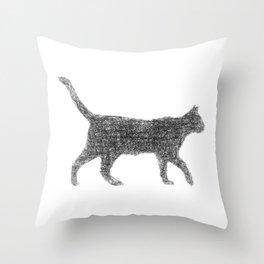 Dust kitten Throw Pillow