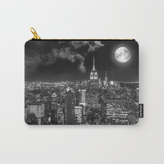 New York Under the Moon Carry-All Pouch