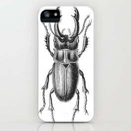 Vintage Beetle black and white iPhone Case