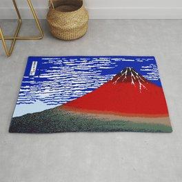 Colorful Fine Wind, Clear Morning Mount Fuji Japan Rug