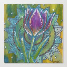 Tulip and mandala Canvas Print