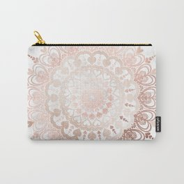 Love Mandala Rose Gold Carry-All Pouch