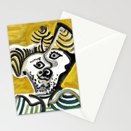 Pablo Picasso - Man's head - Digital Remastered Edition Stationery Cards