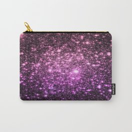 Glitter Galaxy Stars : Pink Lavender Purple Ombre Carry-All Pouch