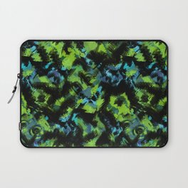 Abstract green black pattern . Laptop Sleeve