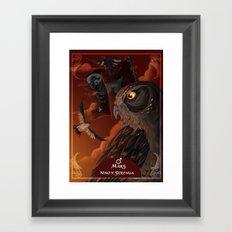 solar owls mars  Framed Art Print