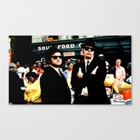 blues brothers Canvas Prints featuring The Blues Brothers by Gabriel T Toro