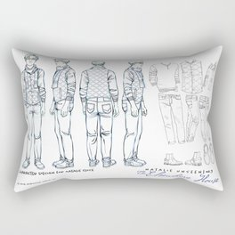 No. 3 Natalie Close character design, pencil/ink Rectangular Pillow